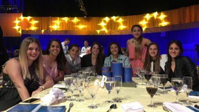 Jugadoras en la cena de Boca Social